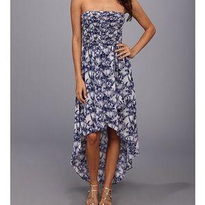 NWT Stretchy Strapless High Low Tie Dye Dress